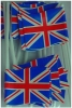 small union jack on cocktail stick for decorating cupcakes etc