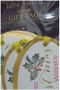 oval tags with ribbon tie