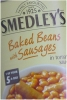 Smedleys Baked Beans & Sausages 405g