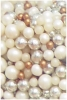 a mix of shimmer pearl 'non pareils' in cream and gold