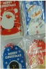 cartoony santa snowman penguin & rudolph gift tags