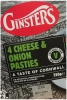 Ginsters Cheese & Onion Pasties x 4