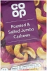 CO OP Nuts Roasted & Salted Cashews 150g Packet