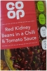 CO OP Red Kidney Beans In Chilli Tomato Sauce 390g